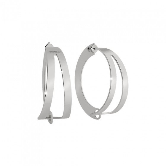 "Image of ""REBECCA Iconic hoop earrings in silver stainless steel, BICOBB09"""
