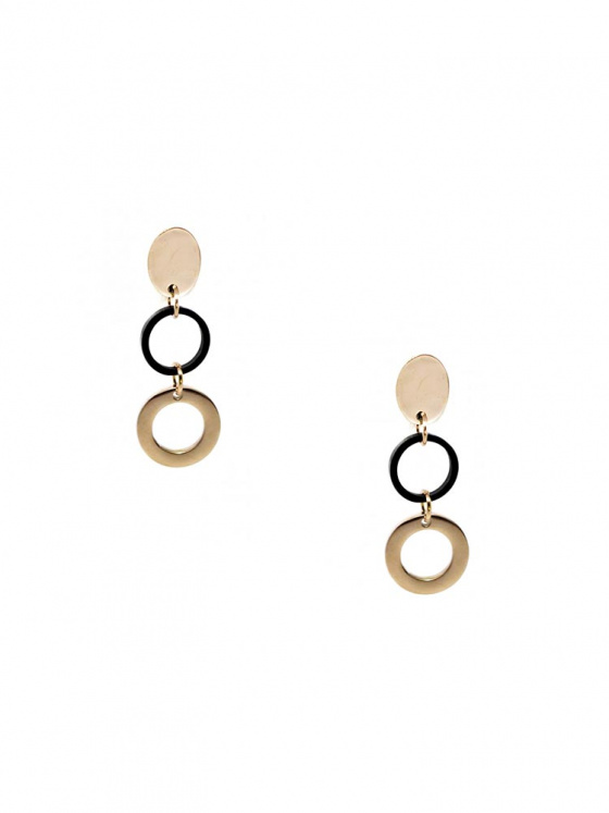 "Image of ""Stainless steel rose gold earrings, TER362"""