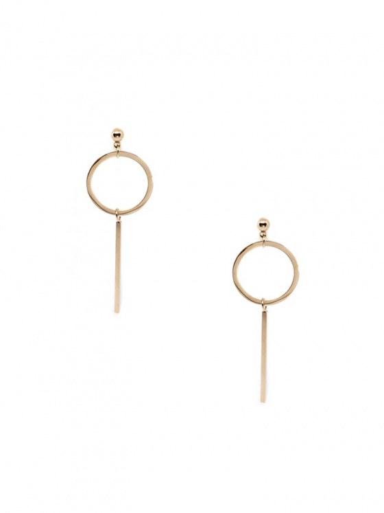 "Image of ""Stainless steel rose gold earrigs, TER369"""