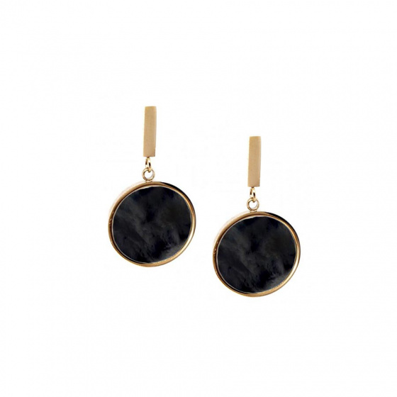 "Image of ""Stainless steel rose gold earrings, TER386"""