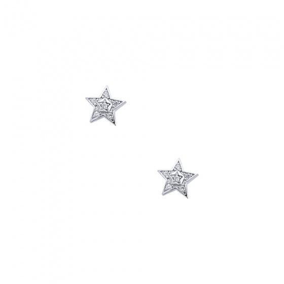 """Εικόνα του """"Λευκόχρυσα σκουλαρίκια """"Bright Stars"""" Κ9"""""""