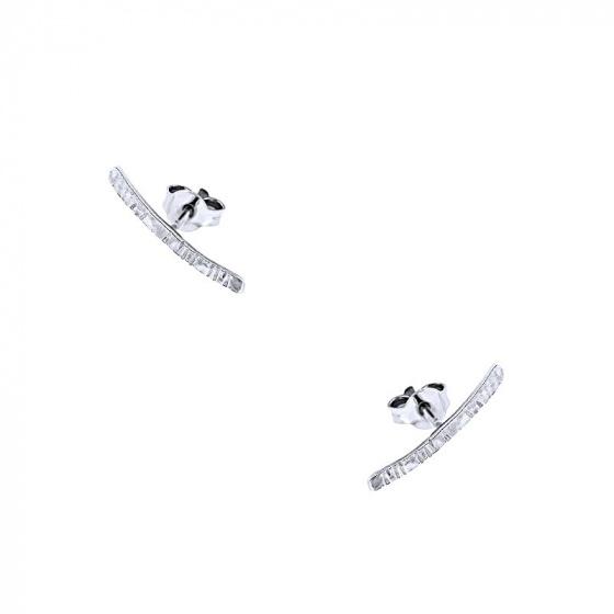 """Εικόνα του """"Λευκόχρυσα σκουλαρίκια climbers Κ9 """"Crafted Line"""" """""""