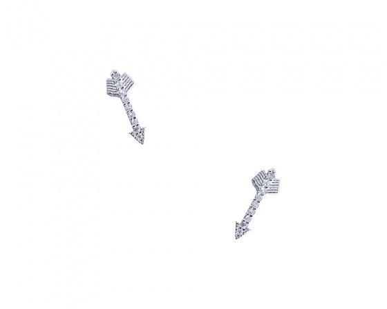"""Εικόνα του """"Λευκόχρυσα σκουλαρίκια Κ9 """"Shiny Arrows"""""""""""