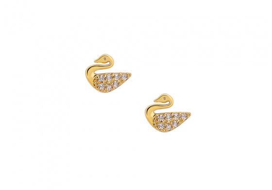 "Image of """"Sweet Swan"" gold earrings K14"""