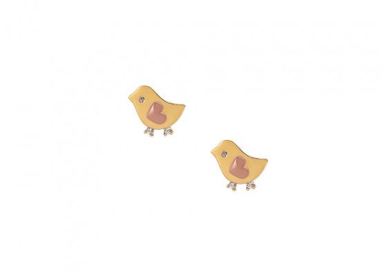 """Image of """"""""Loving Birds"""" gold earrings K14"""""""