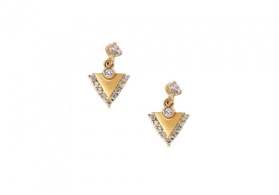 "Image of """"Trinity"" gold earrings K14"""
