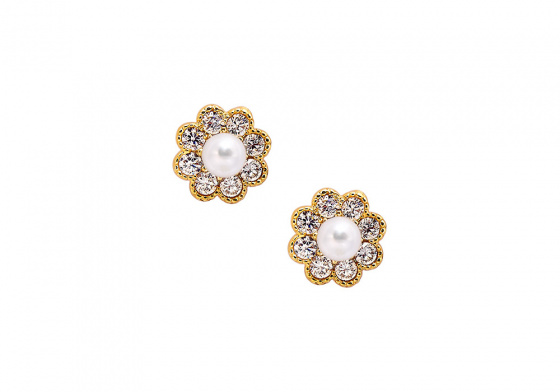 """Image of """"""""Dazzling Daisies"""" gold earrings K14"""""""