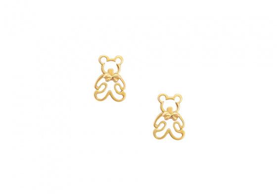 "Image of """"Teddy Bears"" gold earrings K14"""