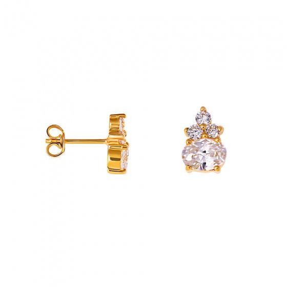 """Image of """"""""Heirloom"""" gold earrings K14"""""""