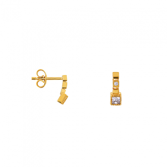 "Image of """"Antique"" gold earrings K14"""