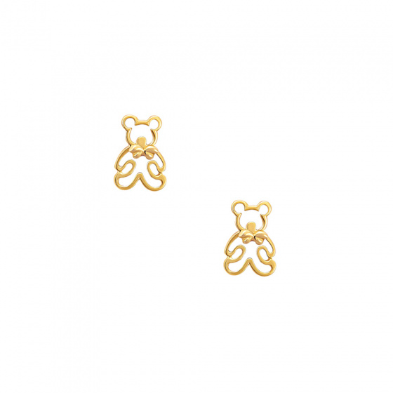 "Image of """"Teddy Bears"" gold earrings K14"""