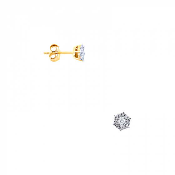 "Image of ""Gold earrings Κ14 with diamonds, BOI13160"""