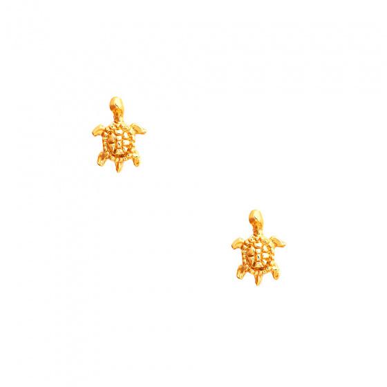 """Εικόνα του """"Χρυσά σκουλαρίκια Κ14 """"Sea Turtles"""""""""""