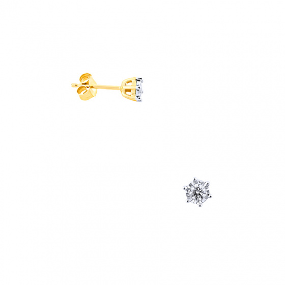 """Image of """"Gold earrings Κ14 with diamonds, BOS4008-015"""""""