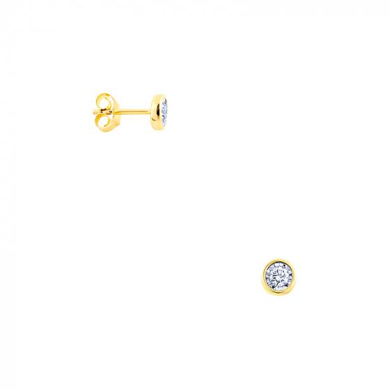 "Image of ""Gold earrings Κ14 with diamonds, BOI10124"""