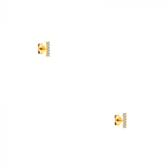 """Εικόνα του """"Χρυσά σκουλαρίκια Κ14 """"Crystal Bar"""" """""""