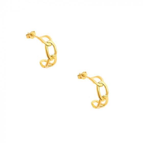 "Image of """"Bun #2"" gold K14 earrings"""