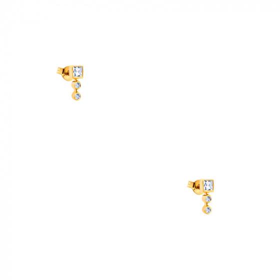 """Εικόνα του """"Χρυσά σκουλαρίκια Κ14 """"Tower"""" """""""
