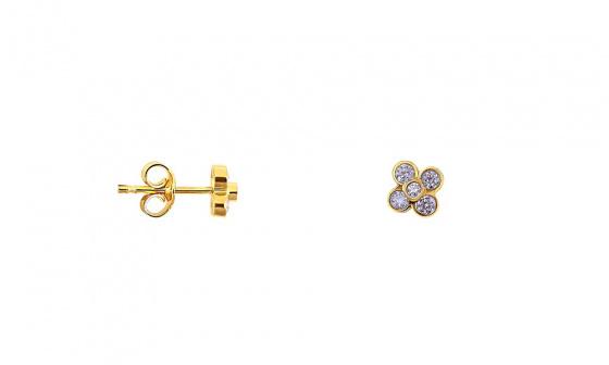 """Εικόνα του """"Χρυσά σκουλαρίκια K9 """"Tiny Anemona"""""""""""