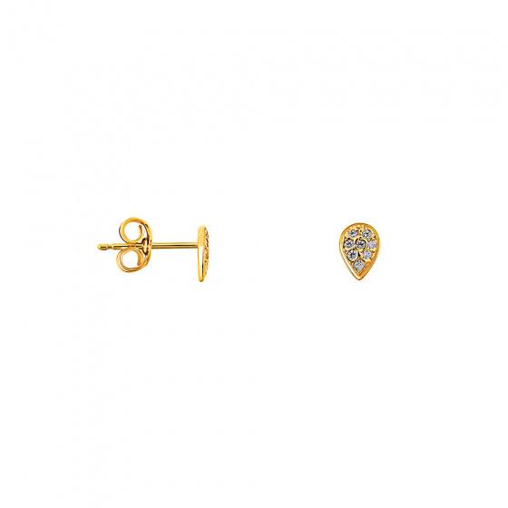 """Εικόνα του """"Χρυσά σκουλαρίκια Κ9 """"Fairy Tears"""""""""""
