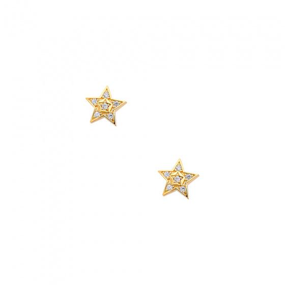 """Εικόνα του """"Χρυσά σκουλαρίκια """"Bright Stars"""" Κ9"""""""