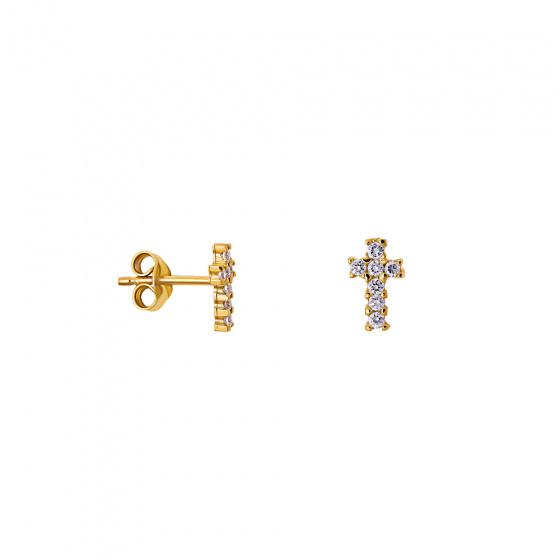 """Εικόνα του """"Χρυσά σκουλαρίκια Κ9 """"Holy Cross"""""""""""