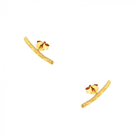 """Εικόνα του """"Χρυσά σκουλαρίκια climbers Κ9 """"Crafted Line"""" """""""