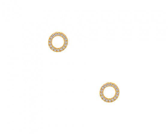 """Εικόνα του """"Χρυσά σκουλαρίκια Κ9 """"Ravishing"""""""""""