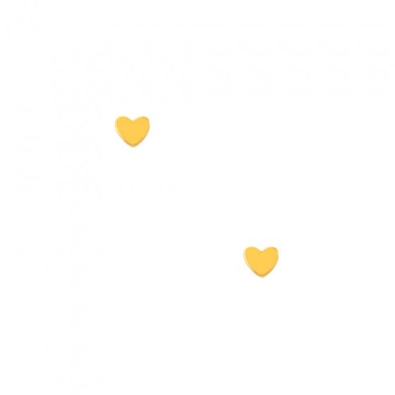 "Image of """"Festive heart"" gold earrings K9"""