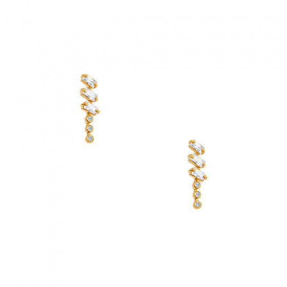 """Image of """"""""Domino"""" gold earrings K9"""""""