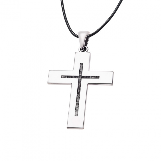 "Image of ""Men's silver cross - 69017"""