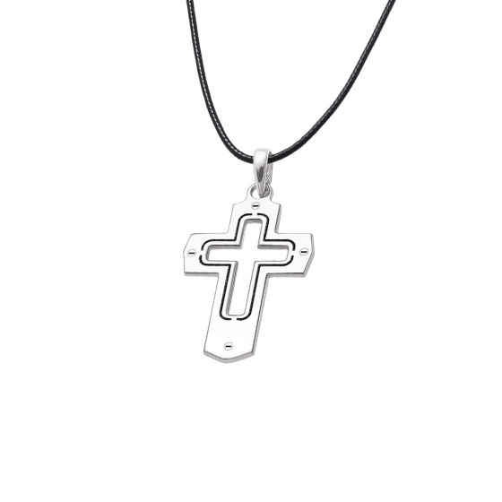 "Image of ""Men's silver cross - 64717"""