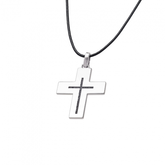 "Image of ""Men's silver cross - 64517"""