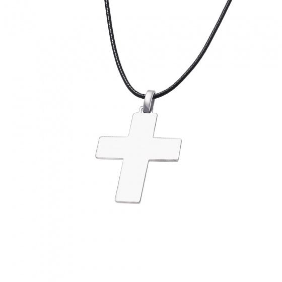 "Image of ""Men's silver cross - 64317"""