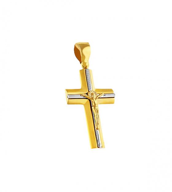 """Image of """"Gold K14 men cross T018"""""""