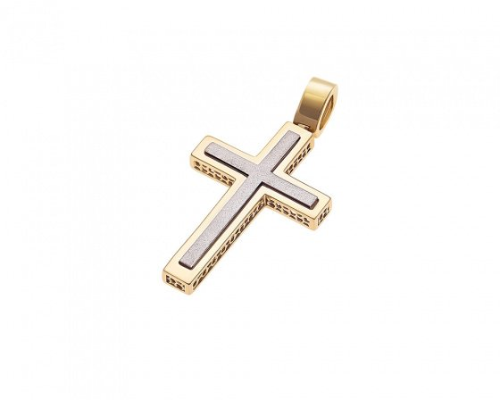"Image of ""Gold men's cross Κ14, H252"""