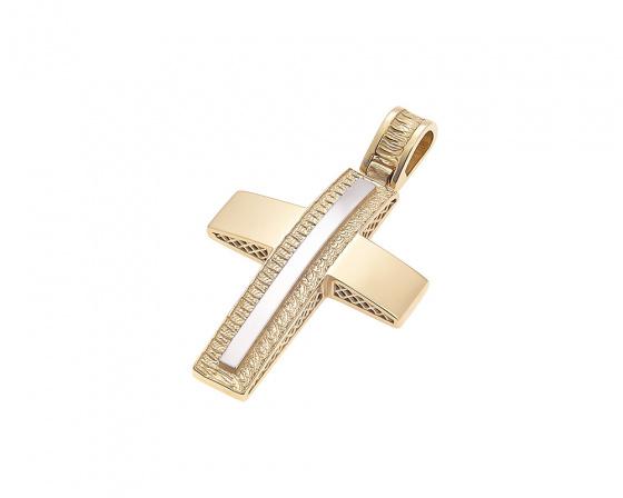 """Image of """"Gold men's cross K14, H369"""""""