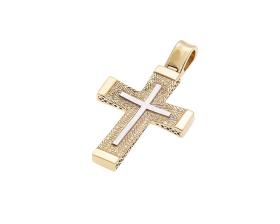 "Image of ""Gold men's cross K14, H394"""
