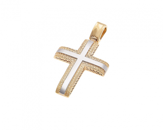 "Image of ""Gold men's cross K14, T014"""