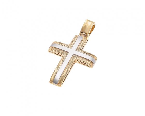 """Εικόνα του """"Χρυσός ανδρικός σταυρός Κ14, T014"""""""