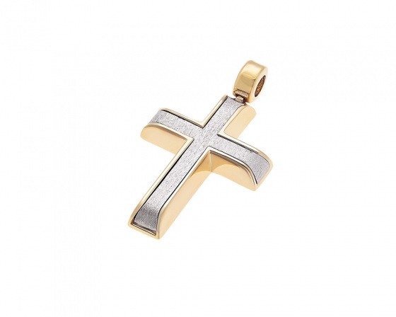 """Εικόνα του """"Χρυσός ανδρικός σταυρός Κ14, Τ015"""""""