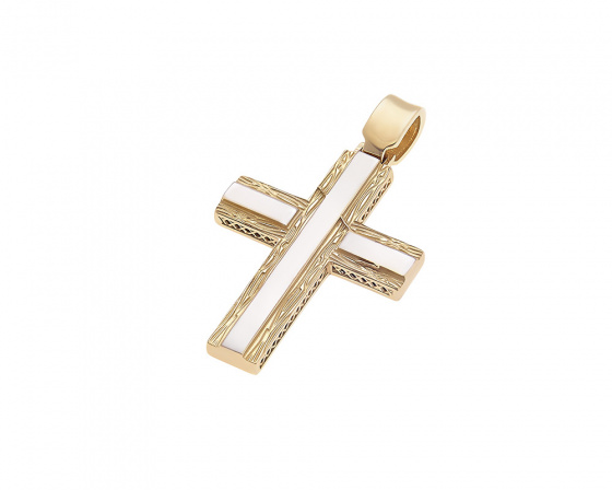 "Image of ""Gold men's cross K14, T016"""