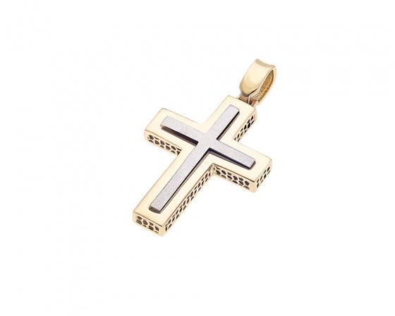 """Image of """"Gold men's cross K14, H357"""""""