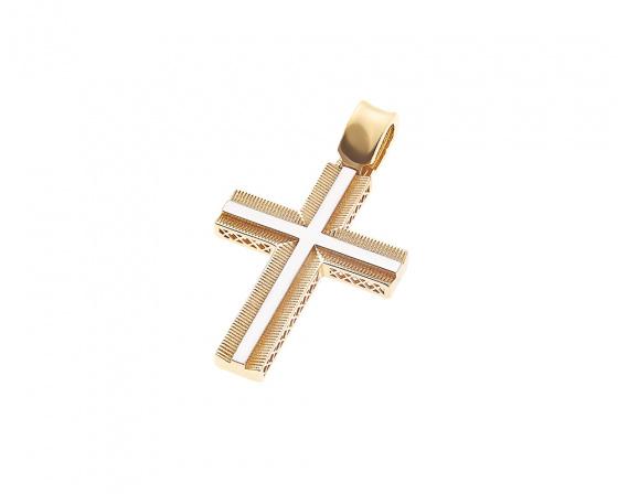 """Εικόνα του """"Χρυσός ανδρικός σταυρός Κ14, Τ020"""""""
