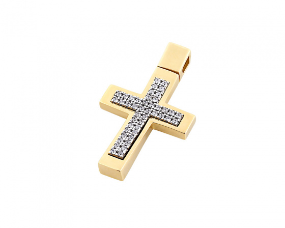 "Image of ""Gold women's cross Κ14, T00218"""