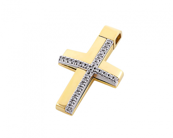 "Image of ""Gold women's cross Κ14, T00318"""