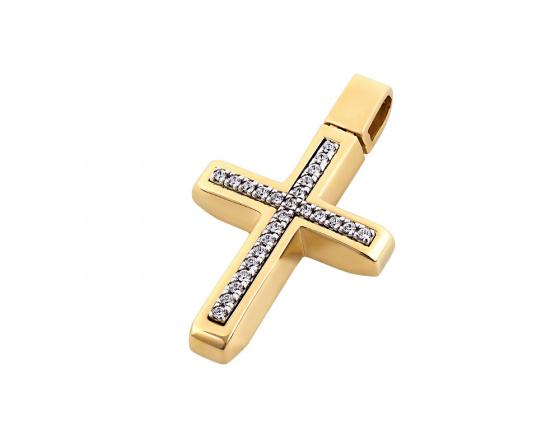 "Image of ""Gold women's cross Κ14, T00418"""