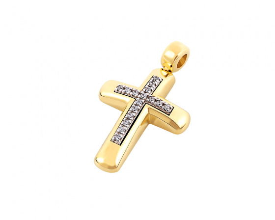 "Image of ""Gold women's cross Κ14, T00518"""