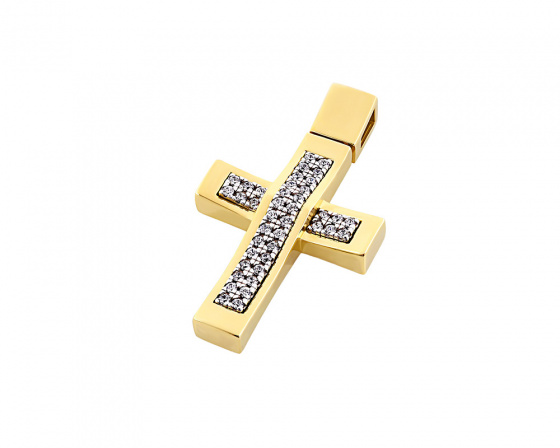 "Image of ""Gold women's cross Κ14, T00718"""