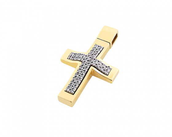 "Image of ""Gold women's cross Κ14, T00918"""